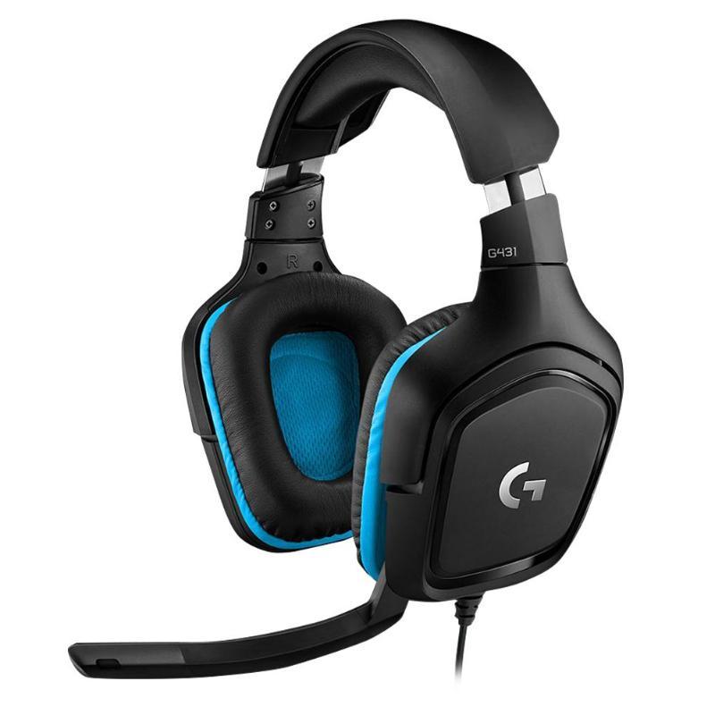 Logitech G431 Wired DTS 7.1 Surround Sound Headset Gaming Headphone w/ MicLogitech G431 Wired DTS 7.1 Surround Sound Headset Gaming Headphone w/ Mic