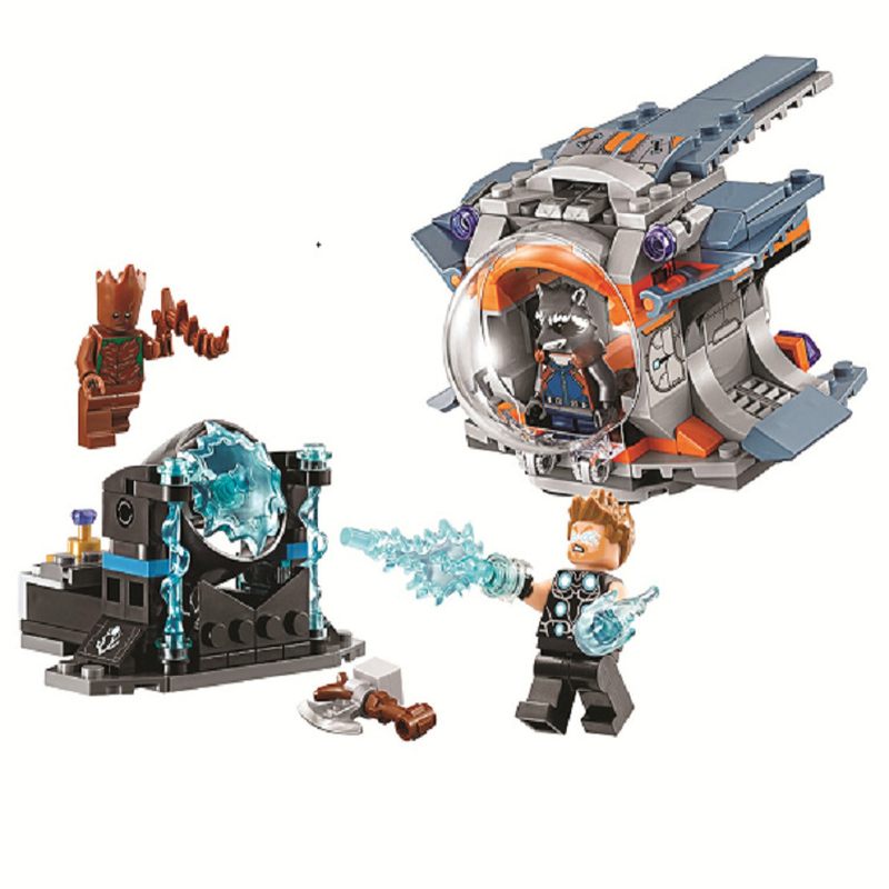 Bela 10835 Avenger Super Hero Thors Weapon Quest Building Blocks Toys Compatible With Legoings Avengers Super Heroes 76102 single sale super heroes deadpool 2 avenger 3 thanos helmet infinity gauntlet with power stones building blocks kids toys kf1999