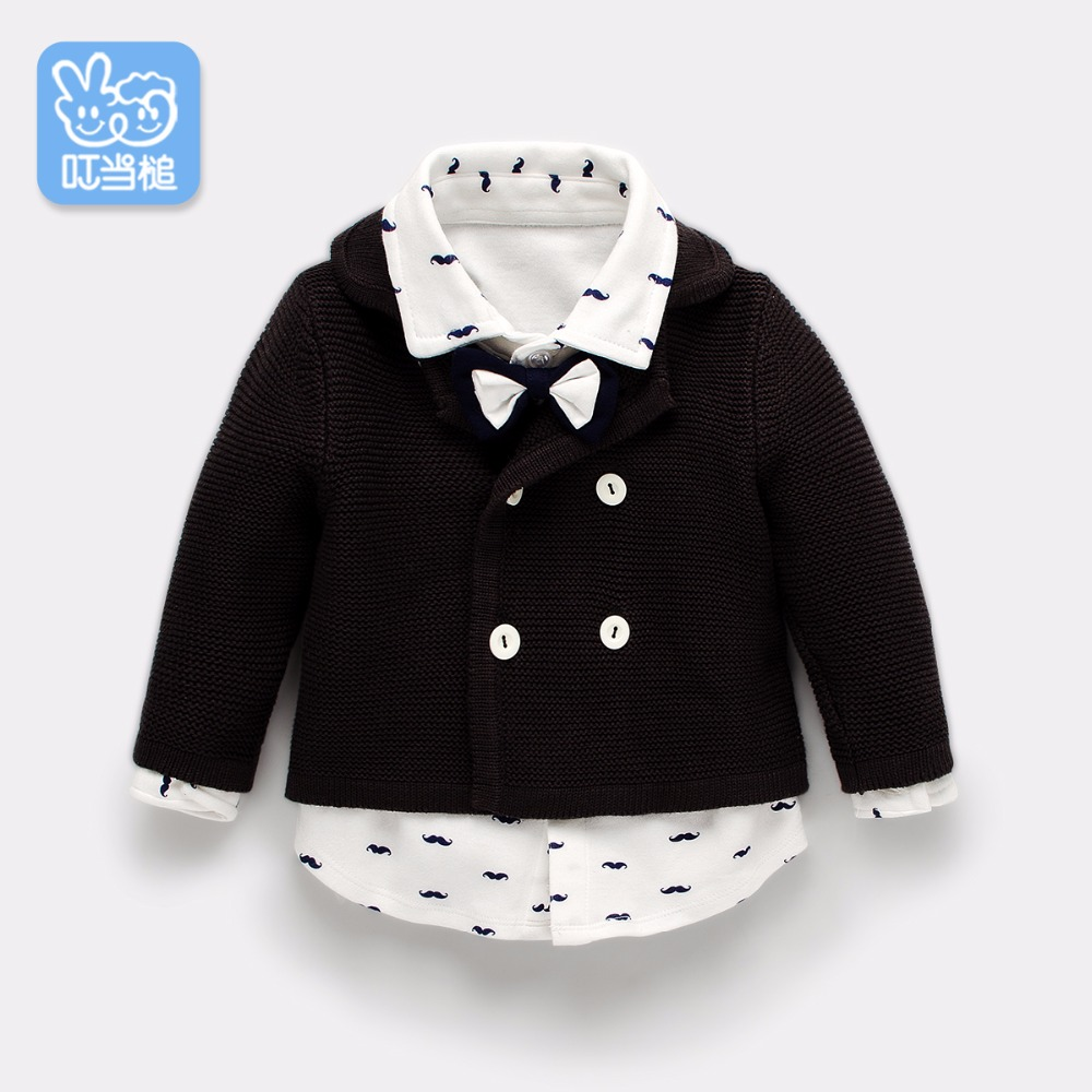 Dinstry boys baby sweater coat autumn baby girl children's clothing spring and autumn Western style coat 3 years old