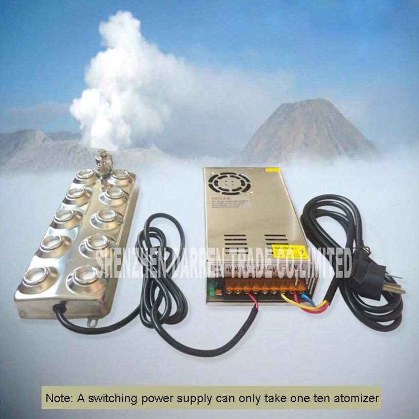 Nuovo Arrivo Domestica E Commerciale Umidificatore Ad Ultrasuoni Mist Maker Fogger 10 Testa 4.5 kg/H Ad Ultrasuoni Atomizzatore CL-10D48-2