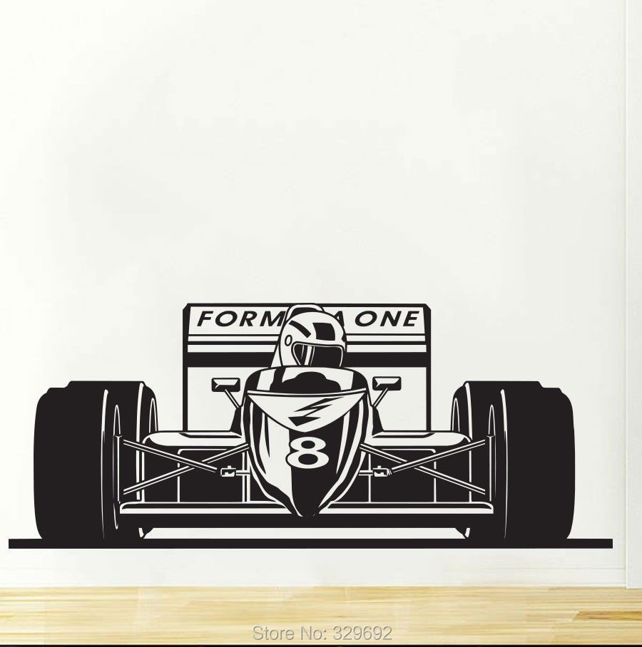 formula 1 racing sports car wall decal art boys room home wall sticker decal nail car decor wall stickers home decor