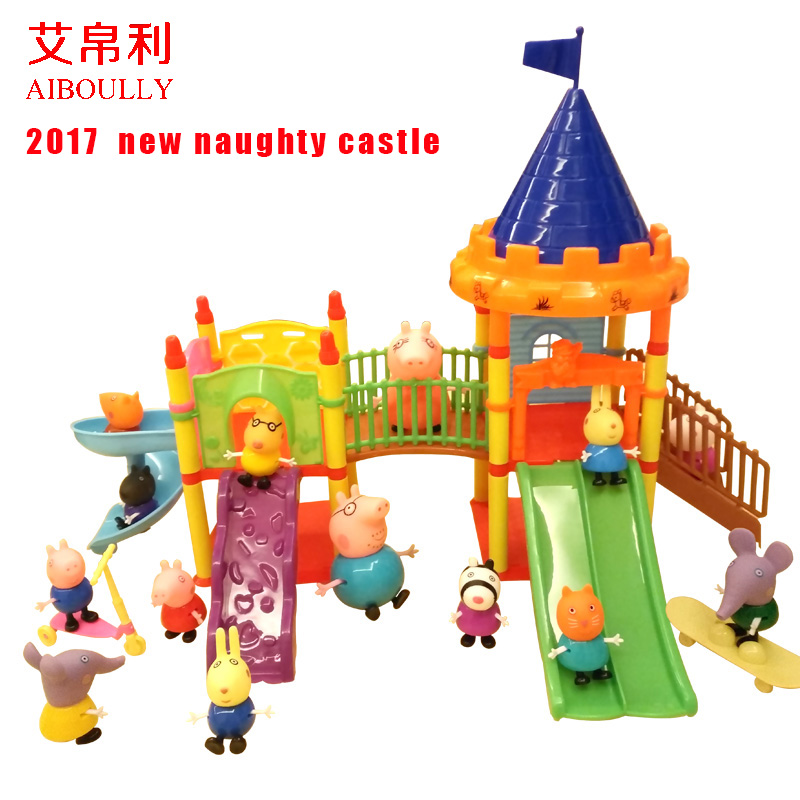 Aiboully pig toys Series of Amusement park Toys PVC Action Figures Family Membe peppa george pig Toy Baby Kid Birthday Gift george crowder theories of multiculturalism