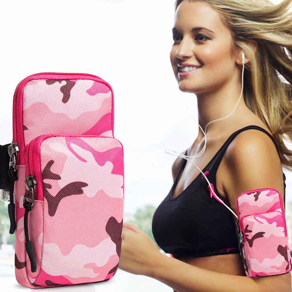 Män Kvinnor Universal Resa Armväska Dubbla Zipper Casual Handväska - Plånböcker - Foto 2