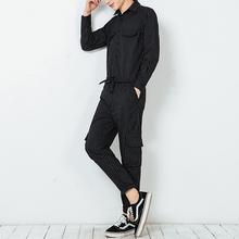 big baggy pants  2017  Male spring and autumn plus size bodysuit long-sleeve dj slim trousers tooling