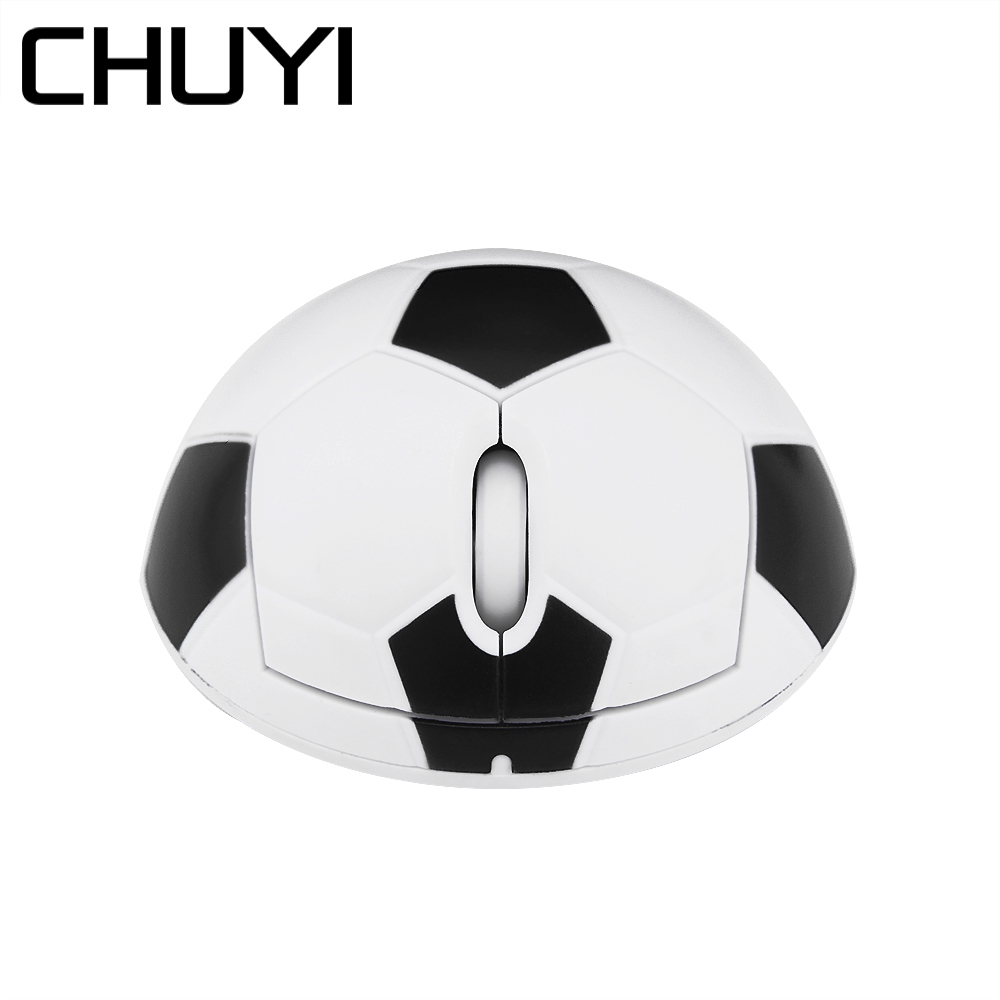 Chuyi 2.4ghz Wireless Computer Mini 3d Mouse Football Pc Mice For Boy 1200dpi Usb Optical Mause With Mouse Pad For Laptop Gamer