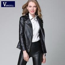 Elegant Spring Autumn Leather Jacket 2018 New Women's Short Black RED PU Leather Coat Ladies Slim Motorcycle Jaqueta Couro