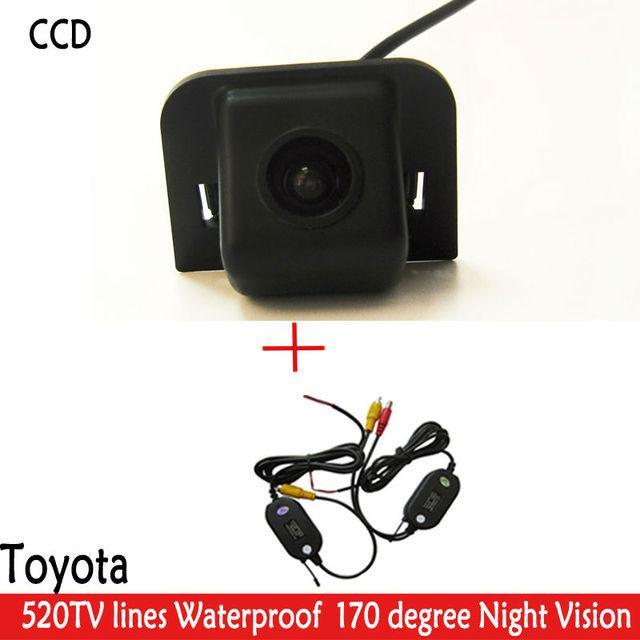 Wrieless 170 graus câmera de visão Traseira Do Carro Câmera de Estacionamento Cor noite Versão WIFI CCD Da Câmera de Backup Reversa para TOYOTA Prius 2012