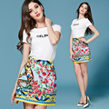 Fashion Skirt 2017 New Women's Casual Vintage Print Mini Skirt for Women