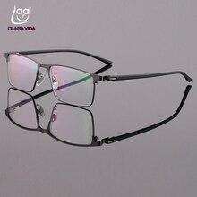 Custom Made Prescription Optical Glasses Photochromic Classic Large Titanium Alloy Full-rim Frame Myopia Short Sight Reading
