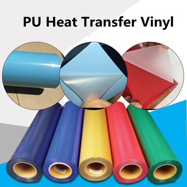 US $112 96 15% OFF|PU Heat transfer Vinyl 0 3m x 25m Rolls vinyl transfer  Iron on Fabric DIY shirts hat, bag High elastic transfer film easy make-in