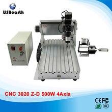 LY CNC 3020Z-D500W 4 axis mini CNC engrave machine assembled 500W