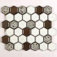 Kepinfy 45*50 мм гексагональная керамическая мозаичная плитка для дома, отеля, отдыха, украшения проекта - Цвет: 1 LOT