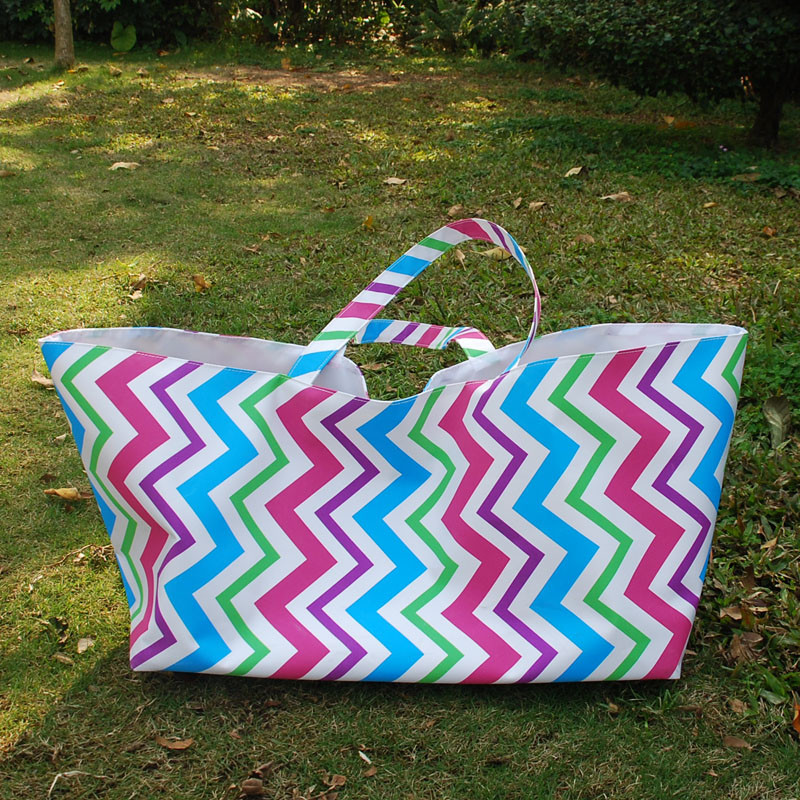 Free Shipping Multi Chevron Rectangle Tote Game Day Large Pink Chevron Storage  Cube DOM1018083