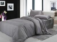 classic cotton satin stripe plain solid white blue gold beige hotel linen bedding set duvet cover set bedclothes bed sheet set
