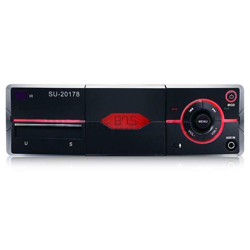 Bluetooth 1-Din Car Audio Stereo Lossless sound quality Mp3 Player AUX Remote Control with Phone Holder image