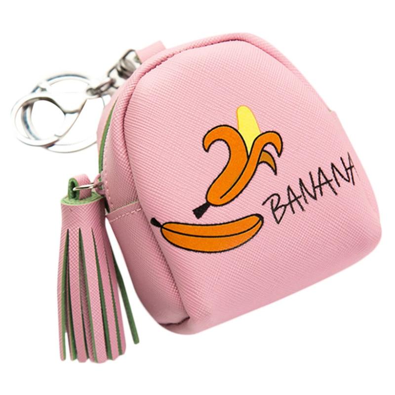 Women Girls Handbag Cute Fashion Snacks Casual Fruit Pattern PU Leather Coin Purse Wallet Bag Change Pouch Key Holder bolsas automatic spanish snacks automatic latin fruit machines