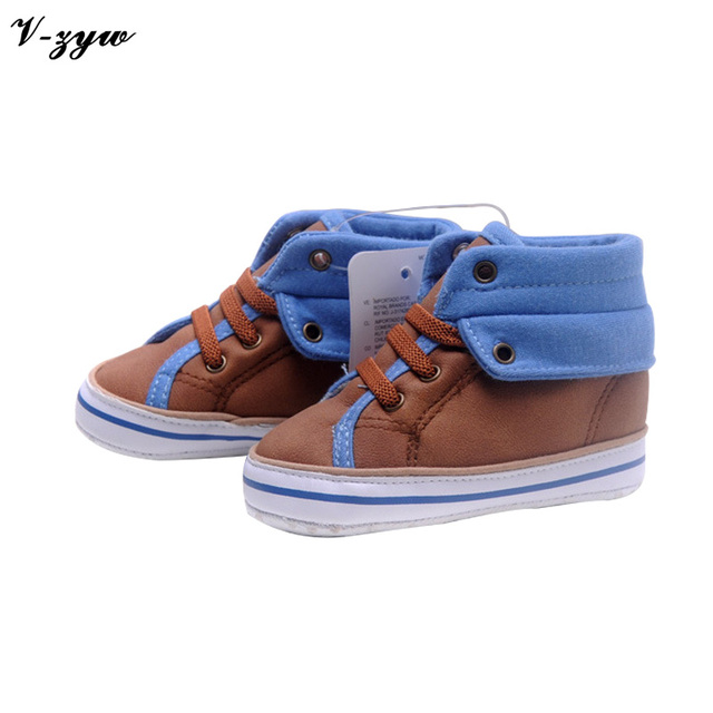 New Brand Boys First Walkers Non-slip Baby Sneakers Soft Sole Infant Canvas Shoes GZ083
