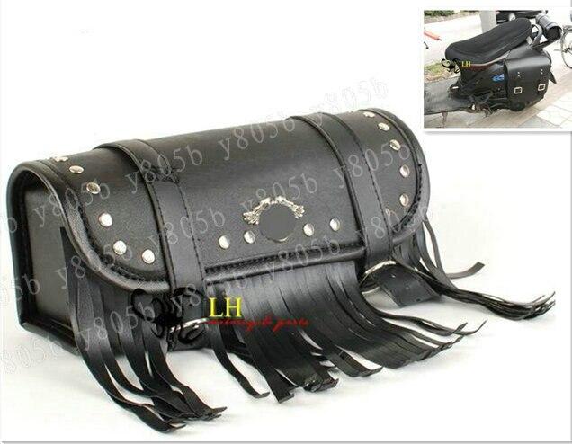 Buy Black Tassel Pu Tool Bag Fork Handlebar