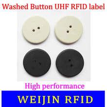 UHF RFID промытая Кнопка тег VIKITEK 860-960MHZ Alien Higgs3 чип PPS материал можно мыть высокая термостойкость rfid тег