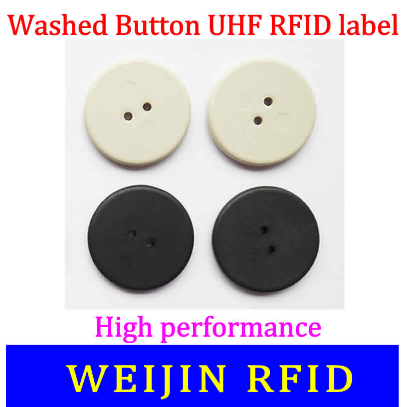 VIKITEK Washed button tag 860-960MHZ UHF RFID Alien Higgs3 chip PPS material can be washed 50pcs 74 21mm rfid gen2 uhf paper tag with alien h3 chip used for warehouse management