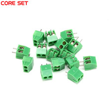 10Pcs/Lot KF350-3.5-2p 3.5mm pitch PCB Screw Terminal Block Connectors 300V/10A