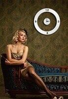 الحب حلقة ساعة الحائط مرآة الحائط العصي العصي ل معيشة المنزل 3d مرآة الحمام الساخن بيع