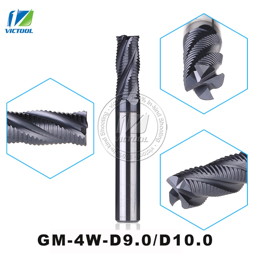 Solid Carbide 4 Flute Flattened End mills Corrugated Edges Tungsten carbide High Speed End mill Milling Bit Cutters Tools 1pc hmx 4e d8 0 solid carbide 4 flute flattened long cutting edge end mills tungsten carbide milling cutter