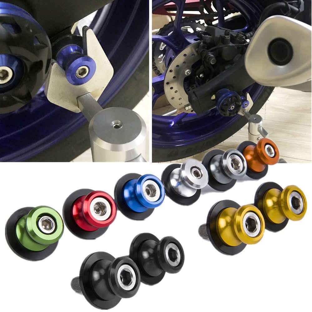 6MM M6 X 1.5 Motorcycle Swing Arm Sliders Spools 2PCS CNC Swing Arm Stand Screw For Yamaha MT10 MT-10 2015 2016 2017 2018 2019