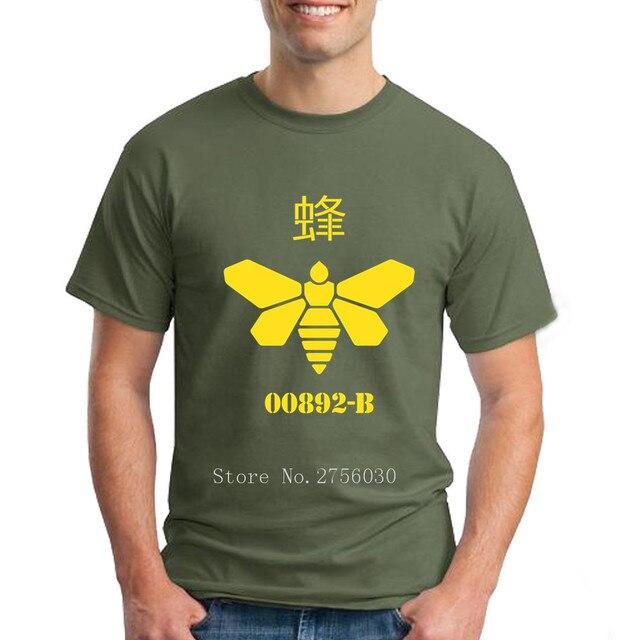 4aa976eb6 Bee t shirts Breaking Bad T Shirts Men Summer Tees Men s Short Sleeve 100%  Cotton camisa masculina Oversize Tshirts For Guys