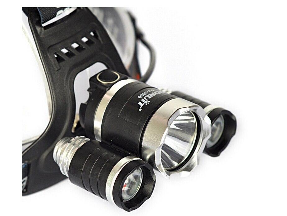Hot CREE XML T6 LED Headlight Waterproof 5000 Lumens LED Headlamps T6 Flashlight Torch head lantern Chargers for Fishing