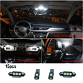 15 pc X canbus Erro Free for AUDI A4 B8 Sedan S4 Sline RS4 Conversível Lâmpada LED Interior Luz Kit Pacote 2008-up