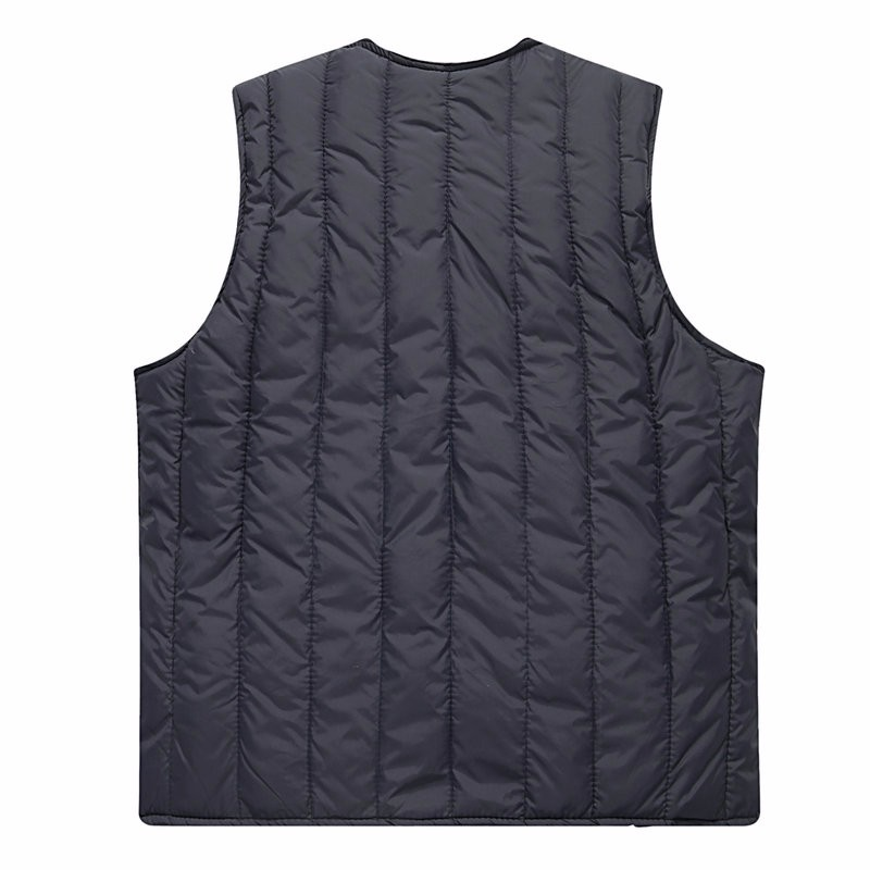 Man Quiited Puffer Vest Dark Blue Army Green Gilet Middle Aged Men Autumn Waistvest Elderly Grandpa Sleeveless Jacket Winter (5)