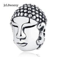2017 Nouveau À La Mode Authentique 925 Sterling Argent Bouddha Tête DIY Charme Perles Fit Original Pandora Bracelets & Bangles Bijoux
