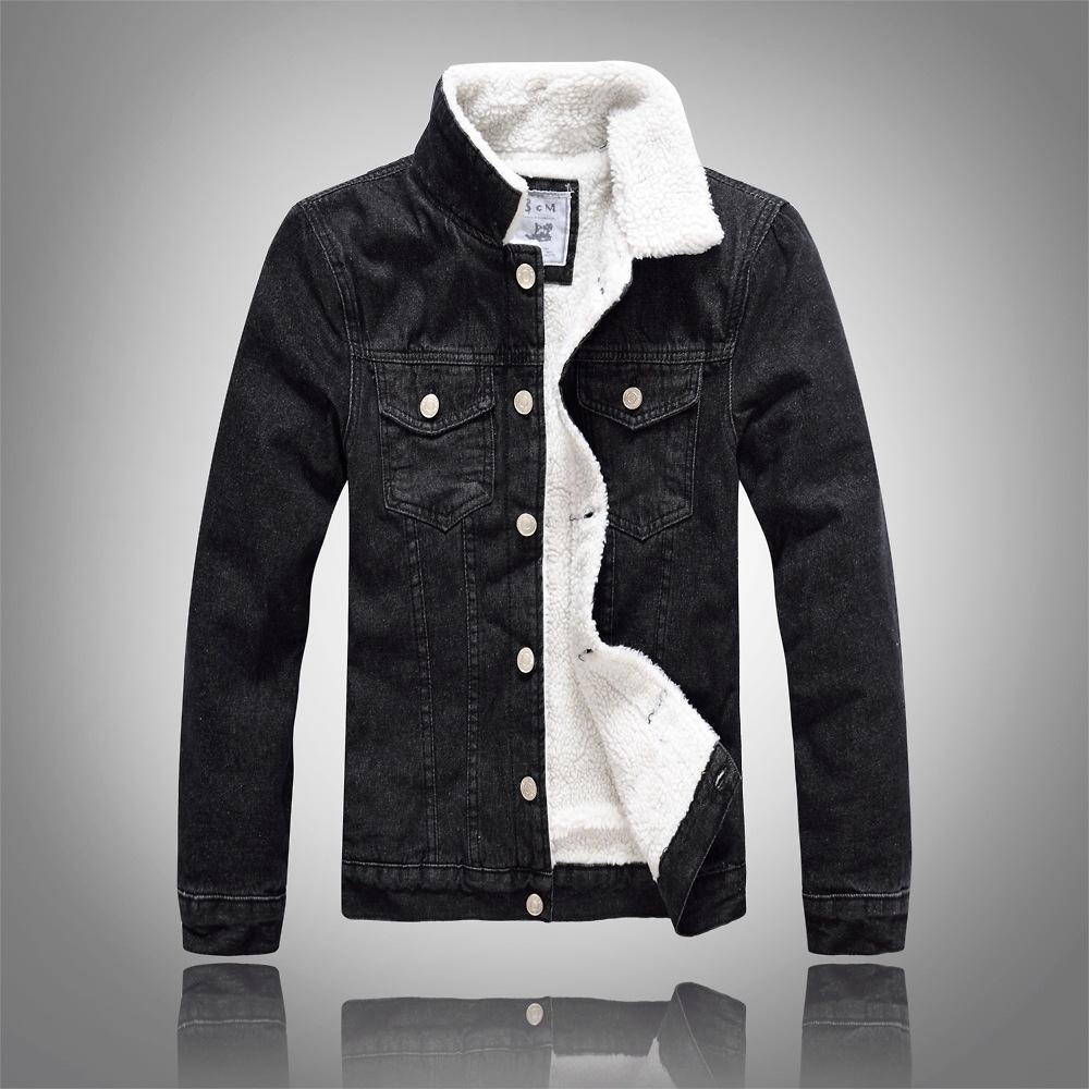 b174d3576b8f Detail Feedback Questions about Denim Jacket Fur Collar Men Winter ...