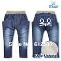 High quality 5pcs/lot KK-RABBIT NEW Style thick cashmere winter kids pants baby jeans children jeans