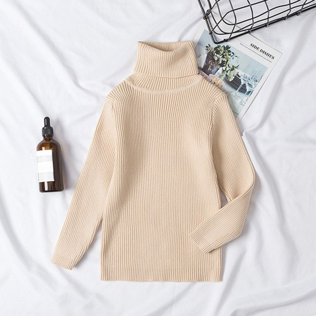 fc3daf5bee81 2019 New Girls Sweaters Solid Candy Color Boys Sweaters Autumn New ...