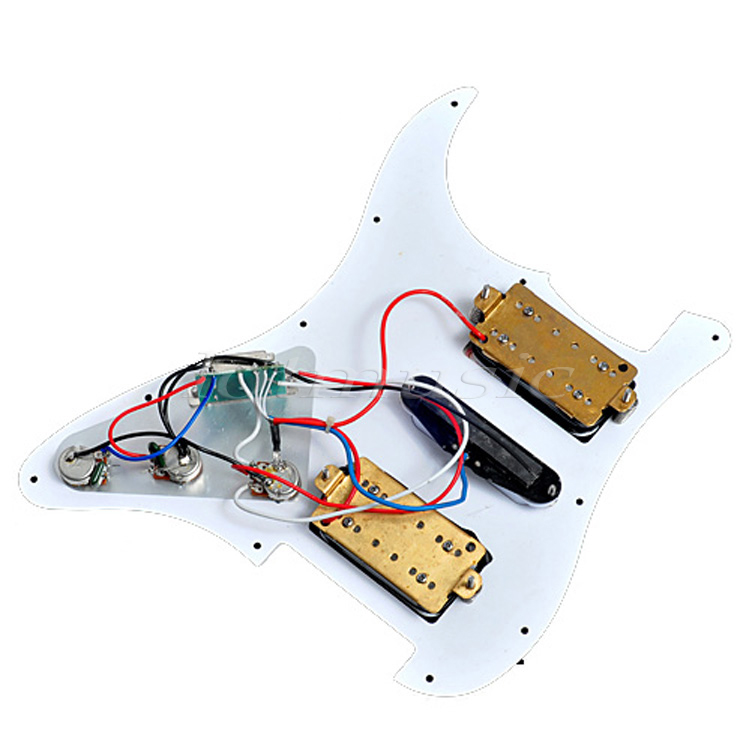 Loaded Prewired Pickguard White For Fender Strat HSH Guitar Parts-in ...
