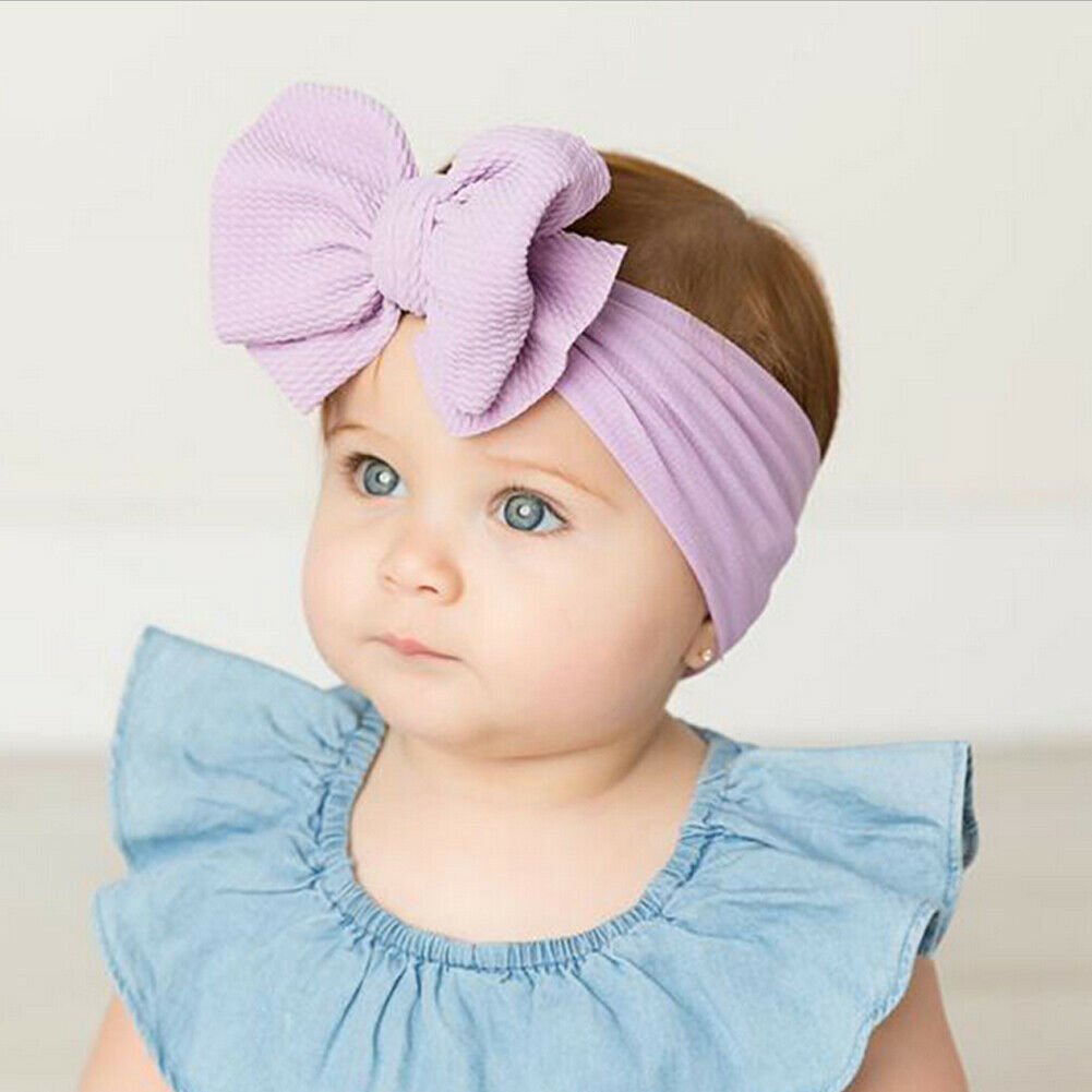 Cute Kids Girl Baby Headband Toddler Lace Bow Flower Hair Band
