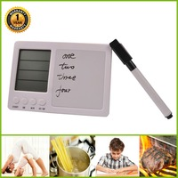 Electronic Digital Laboratory Timer Four Channel Kitchen Timer Hand Written Board Magnet Timer Free Shipping