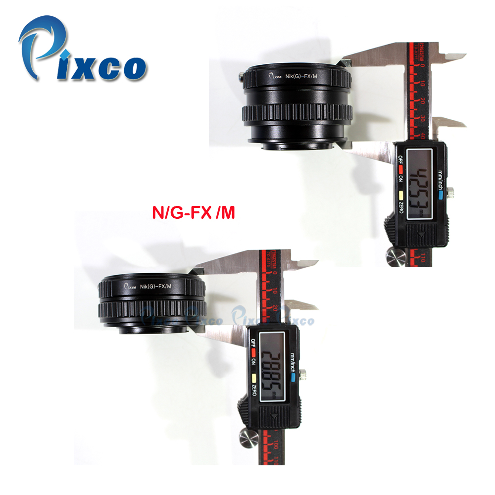 Pixco FMTI Adjustable Focusing Helicoid Adapter Suit For Nikon G AF S AI Lens To Fujifilm