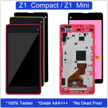 for Sony Xperia Z1 Compact Display Touch Screen Digitizer for Sony Xperia Z1 Compact D5503 D5502 LCD With Frame Z1 Mini Display цена в Москве и Питере
