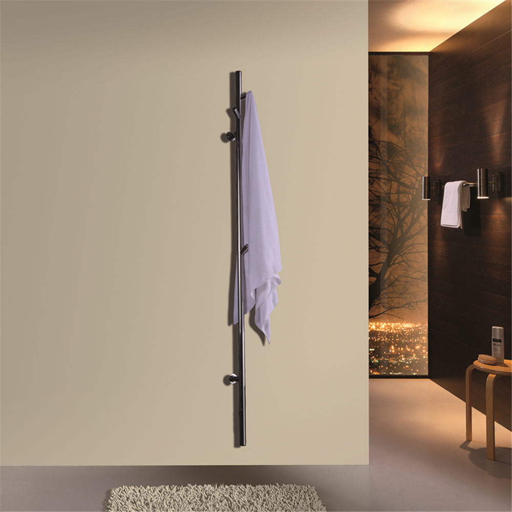ARE Matt Black single bar Wall Mounted stainless steel 304 Towel Rail Electric Heated Towel Dryer Towel Warmer HZ-935