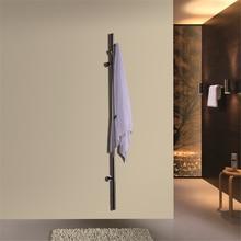 ARE Matt Black single bar Wall Mounted stainless steel 304 Towel Rail Electric Heated Dryer Warmer barHZ-935