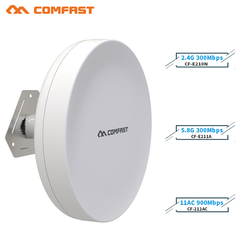 COMFAST 3-5km 300Mpbs & 900Mbps wireless AP bridge Long Range CPE 2.4G&5.8G WIFI Signal Booster Amplifier Outdoor wifi repeater