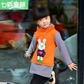 2016 Autumn  Winter Girl's Hoodies Sweatshirts Cartoon Stripe Coat Sweater Fashion Render Upper Garment