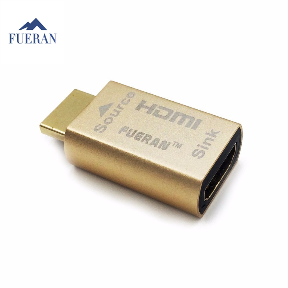 FUERAN HDMI Pass-Through EDID Emulator For Use With Video Splitters, Switches And Extenders