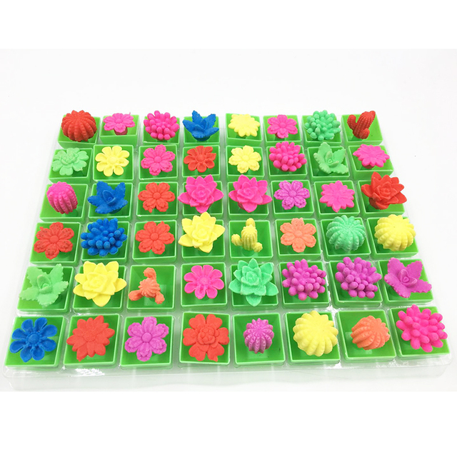12PCS Growing In Water Bulk Swell Flower Pot Various Kinds Mixed Expansion Toy Colorful Puzzle Creative Magic Toys NGG08