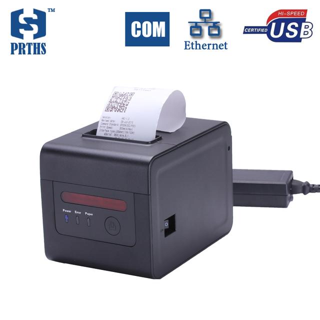 80mm térmica impresora de cocina con alarma EL código QR y multi idioma red pos máquina impresora para la impresora de tickets restaurante