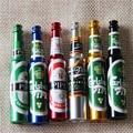 Mini Cerveza Humo Tubos de Metal Portátil Creativo Regalos narguile Pipa de Fumar Hierba Del Tabaco Weed Grinder Humo 6 colores Tubos