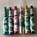 Mini Tubos de Fumaça de Metal de Cerveja Portátil Criativo Presentes narguile Cachimbo Cachimbos Erva Moedor de Ervas Daninhas Fumaça 6 cores Tubos